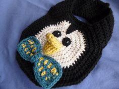 Penguin Drool Spit Baby Toddler Bib CUTE