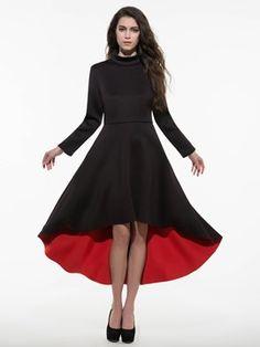 Ericdress Plain Asymmetrical Casual Dress