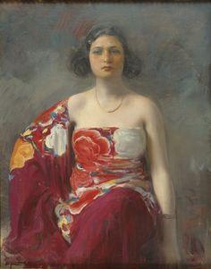 Trini, c.1916 by Ramon Casas (Barcelona, 1866-1932) | Museu Nacional d'Art de Catalunya