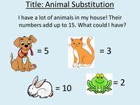 Algebra Zoo - fun substitution worksheet - Resources - TES