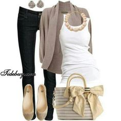 Cute Casual outfit! fashion http://fashionstylepinterest.blogspot.com/ find more women fashion on misspool.com