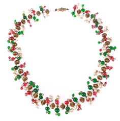 Pair of Maison Gripoix for Chanel Necklaces | From a unique collection of vintage beaded necklaces at https://www.1stdibs.com/jewelry/necklaces/beaded-necklaces/