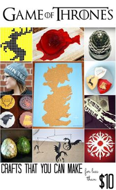 Game of Thrones Crafts (that you can make for less than $10!) - All Cheap Crafts