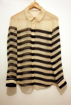 striped sheer blouse.