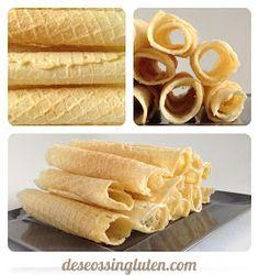 Deseos Sin Gluten: BARQUILLOS SIN GLUTEN Gluten Free Vegetarian Recipes, Gluten Free Sweets, Gluten Free Baking, Vegan Gluten Free, Dairy Free, Waffle, Sem Lactose, Sweet Recipes, Pancakes