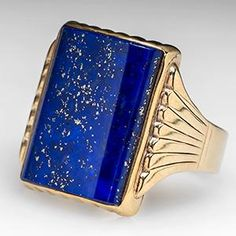 Lapis Lazuli Gold Ring  Years ago, I had a ring very similar to this that was stolen out of a hotel room. - JRM