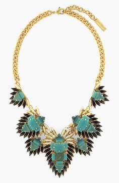 Vince Camuto 'Aqua Glam' Statement Necklace available at #Nordstrom