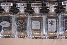 Personalized Whiskey Decanter Custom Logo Engraved Glass Whiskey Decanter Barware Liquor Bottle Fireball Whiskey Monogram Scotch Decanter $29.99