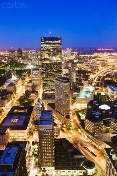 Boston, Massachusetts at night