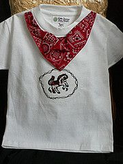Embroidery Horse T-Shirt by Western Border