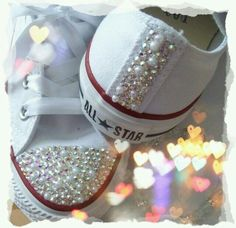 3b671e0b8ab3 Pearl   Sparkles Converse for Wedding Shoes . Probably cost  eleventy-billion dollars