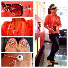 Τι φοράω σήμερα;; Γυαλιά ηλίου Love Moschino, βραχιόλι Talento, πουκάμισο-ζακέτα Karen Millen, τζιν-παπούτσια Zara, θήκη iPhone Marc Jacobs ;)