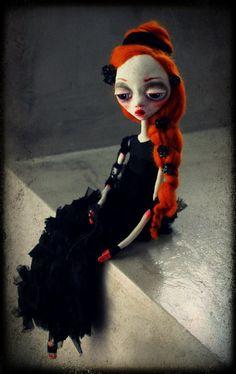Ooak Dark girl-Princess Leigh Cheri by MademoisellesBleues on Etsy