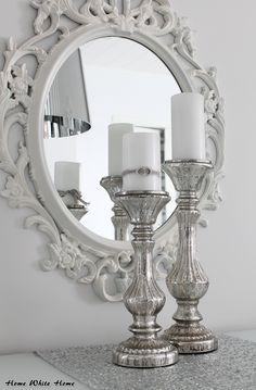 Mercury glass candle holders <3