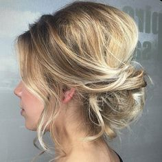Loose Messy Updo With A Bouffant #updohairstyles #messyupdo