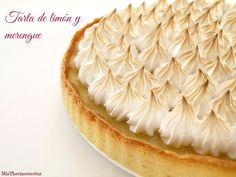 Tarta de limón y merengue - MisThermorecetas Sweet Factory, Pie Decoration, Cake Recipes, Dessert Recipes, Lime Cake, Sweet Tarts, Lemon Curd, Cookie Desserts, Sin Gluten