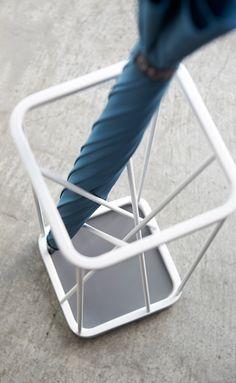 Umbrella Stand 9 Square - Yamazaki @abodeebenelux