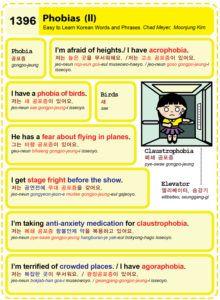 Easy to Learn Korean 1396 - Phobias (part two).