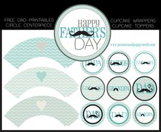Free Father's Day Mustache Dad Printables | Peonies and Poppyseeds
