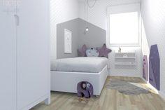 Inspirate con esta habitación infantil estrellas gris i toques lila - toctocinfantil