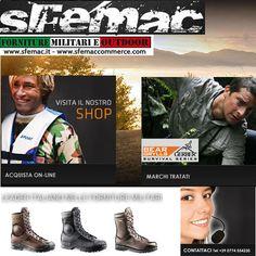 Scarponi, Anfibi Militari e Scarpe da Trekking Professionali dei migliori Brand Internazionali.