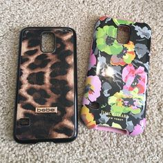 3 Samsung S5 case bundle!! Isaac Mizrahi, Bebe leopard case and clear with gold bumper case. bebe Accessories
