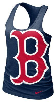 Boston Red Sox MLB Nike Women's Navy Cotton Racerback Tank