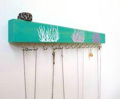 Jewelry Organizer Necklace Holder Necklace Organizer Wood Wall