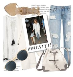 """""""Get The Look - Airport Style"""" by hattie4palmerstone ❤ liked on Polyvore featuring MANGO, Isabel Marant, Louise et Cie, Balenciaga, Mykita, GetTheLook and airportstyle"""