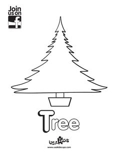 """Decorate a tree with your little one with USA Kids """"Tree"""" coloring sheet! Happy Holidays!"""