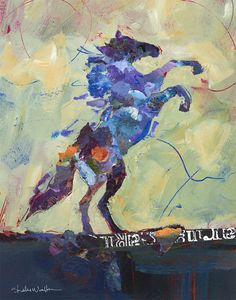 Shelli Walters - Collage, Acrylic.  Wild Horse No2.