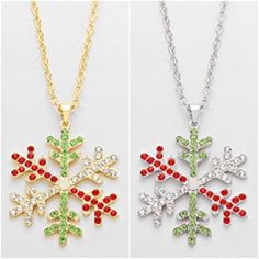 Crystal snowflake necklace , fashion, holiday jewelry #christmas  https://www.etsy.com/listing/256266646/christmas-crystal-pave-snowflake