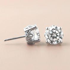 Celebrate Mom with Lab-Created Diamond Earrings