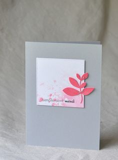 mod graphic look . clean and simple . pink and white . Karten Diy, Thanks Card, Cards For Friends, Pretty Cards, Card Sketches, Sympathy Cards, Card Tags, Flower Cards, Greeting Cards Handmade