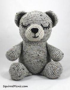 10 FREE Teddy Bear Crochet Patterns: Sleepy Bear Free Crochet Pattern