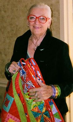 Freddy Moran didn't learn to quilt until she was 60.  Her quilts are so bright and joyful!
