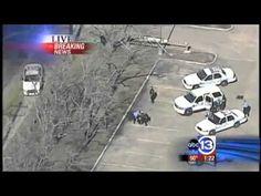 Houston Texas Police Chase Bank Robbers In Mini Van (Local News)