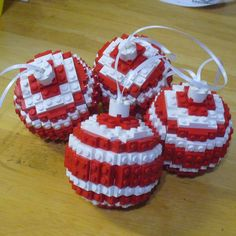 lego ball ornaments - Christmas project for the boys next year, although they might be too heavy for the tree.