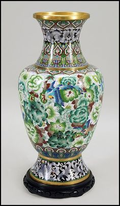 CHINESE CLOISSONE ENAMEL URN. :More Pins Like This At FOSTERGINGER @ Pinterest