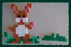 Easter rabbit hama perler beads by Les loisirs de Pat