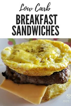 Low Carb Egg Muffin Sausage and Cheese Breakfast Sandwiches quickrecipe breakfastonthego lowcarb easyrecipe ketofriendly Low Carb Eier Muffins, Keto Egg Muffins, Breakfast Egg Muffins, Breakfast Cookies, Breakfast Sandwiches, Breakfast Recipes, Breakfast Ideas, Dinner Recipes, Healthy Low Carb Breakfast