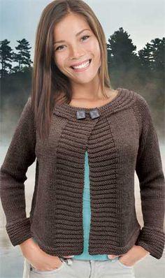 Free Knitting Pattern For Easy Quick Swi - Diy Crafts Ladies Cardigan Knitting Patterns, Knit Vest Pattern, Chunky Knitting Patterns, Crochet Cardigan, Knitting Designs, Knit Patterns, Knit Crochet, Stitch Patterns, Diy Crafts Knitting