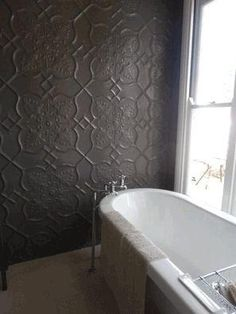 The #Shield #pressedtinpanels is SO popular! This bathroom would be the envy of many!
