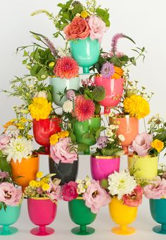 Goblets With Flowers...