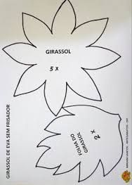 Resultado de imagem para flores gigantes moldes