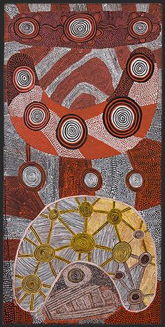 Tjukurrtjanu: Origins of Western Desert Art exhibition - Freddy West Tjakamarra (Pintupi)  Man's corroboree story 1972