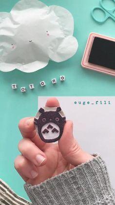 Diy Crafts To Do, Cute Crafts, Cute Diys, Rock Crafts, Diy For Kids, Crafts For Kids, Paper Crafts Origami, Fabric Crafts, Diy Art