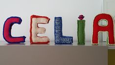 Letras decorativas a crochet