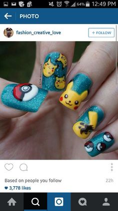 Pokemon nails to die for