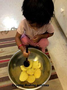 Mashing Potatoes / Kiddo Activity